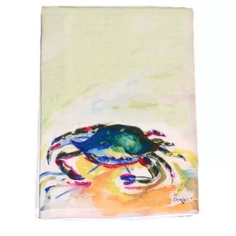 Crab-Hand-Towel Beautiful Beach and Nautical Hand Towels