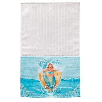 Drink-More-Wine-Multi-Face-Hand-Towel Beautiful Beach and Nautical Hand Towels