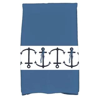 Hancock-Anchor-Print-Hand-Towel Beautiful Beach and Nautical Hand Towels