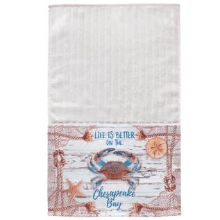 Meggan-Chesapeake-Crab-Net-Multi-Face-Hand-Towel Beautiful Beach and Nautical Hand Towels