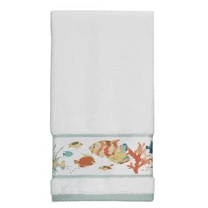 Rainbow-Fish-Print-Hand-Towel Beautiful Beach and Nautical Hand Towels