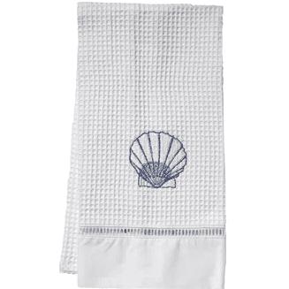 Scallop-Hand-Towel Beautiful Beach and Nautical Hand Towels