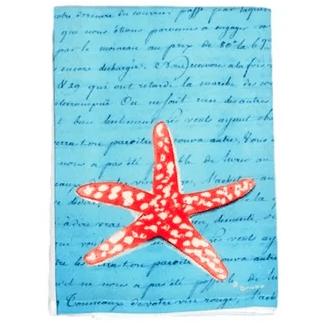 Starfish-Script-Hand-Towel Beautiful Beach and Nautical Hand Towels