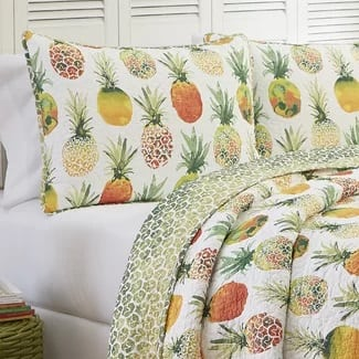 bay-isle-dhekelia-reversible-quilt-set Hawaii Themed Bedding Sets