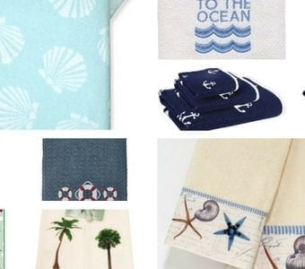 beach theme hand towels for kitchen & bathroom