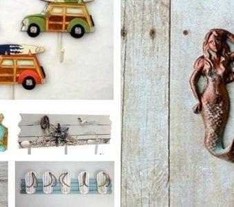 beach-towel-hooks-340x300 How to Create a Coastal Themed Bathroom Design