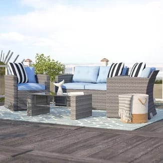 beachcrest-home-denton-wicker-deep-seating-set-with-cushion-4-5 Best Wicker Patio Furniture Sets