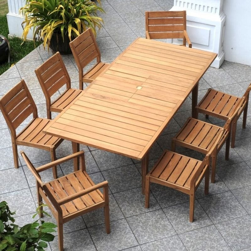 Cambridge Casual Outdoor Natural Teak Dining Set 800x800 Best