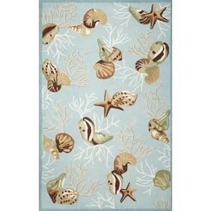 chamberlain-blue-coral-reef-rug-33-330 Starfish Rugs and Area Rugs