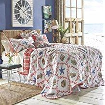 coastal-blue-beige-starfish-quilt Best Starfish Bedding and Quilt Sets