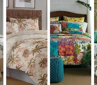 hawaii-themed-bedding-quilt-sets-340x300 The Best Palm Tree Comforter and Bedding Sets