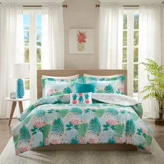 Superb Intelligent Design Tropicana Reversible Hawaii Comforter Set Hawaii Themed  Bedding