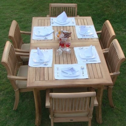 luxurious-grade-a-stacking-teak-dining-chair-set Best Teak Patio Furniture Sets