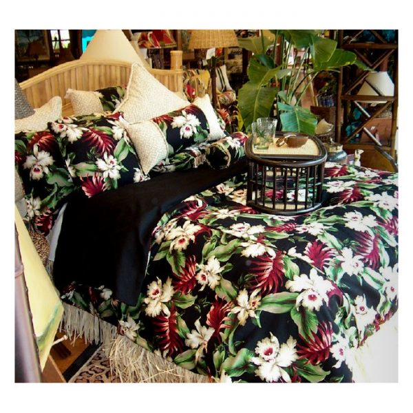 Orchids Hawaiian Bedding Collection by Hanalei