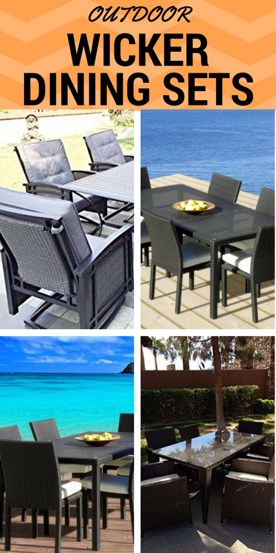 outdoor-wicker-dining-sets-1 8 Beautiful Outdoor Patio Wicker Dining Sets