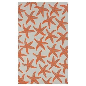 solana-orange-starfish-indoor-outdoor-area-rug-42-510 Starfish Rugs and Area Rugs