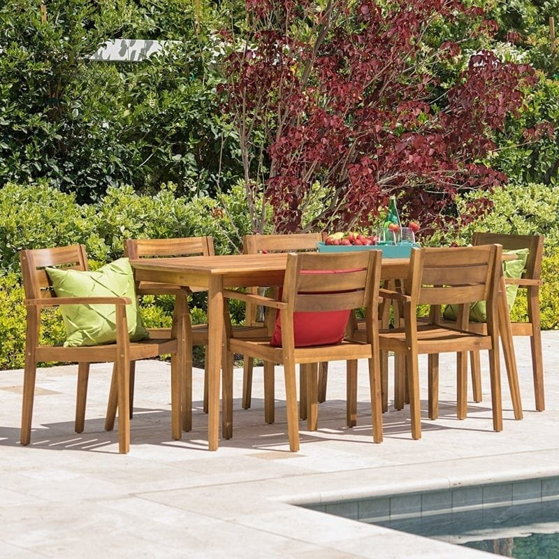Best teak patio furniture sets beachfront decor for Outdoor dining sets for 12