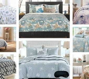 starfish-bedding-quilt-sets-340x300 The Best Palm Tree Comforter and Bedding Sets