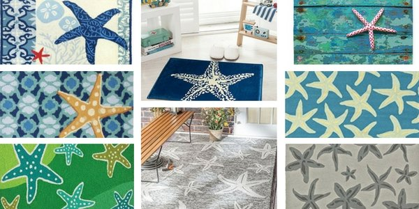 starfish coastal area rugs