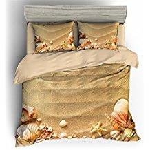 starfish-seashells-beach-duvet-cover Best Starfish Bedding and Quilt Sets