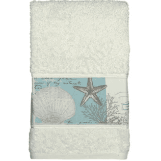 starfish-shell-moonlight-hand-towel Beautiful Beach and Nautical Hand Towels