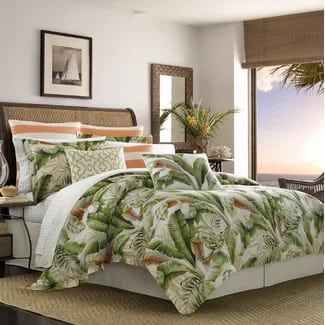 tommy-bahama-palmiers-duvet-cover-set Hawaii Themed Bedding Sets