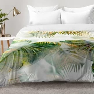 tropical-lush-comforter-set Hawaii Themed Bedding Sets