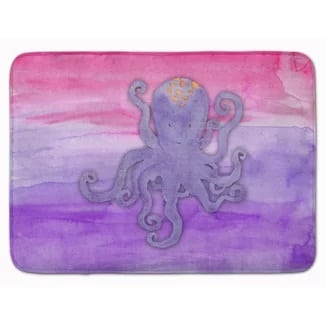 wesley-octopus-purple-watercolor-memory-foam-bath-rug Best Octopus Area Rugs