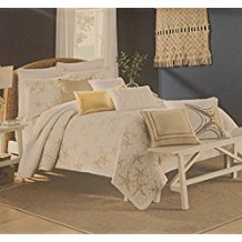 white-and-gold-starfish-quilt Best Starfish Bedding and Quilt Sets