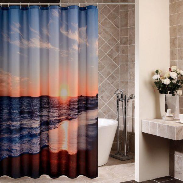 Goodbath Sunset Ocean Beach Shower Curtain