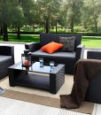 baner garden outdoor wicker furniture set