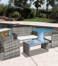 best choice products outdoor wicker set