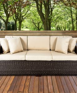 best choice products wicker sofa couch