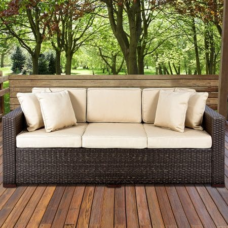10-best-choice-products-wicker-sofa-cushioned-450x450 Best Outdoor Wicker Patio Furniture