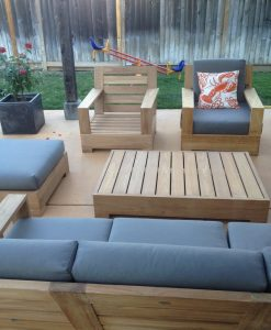 wholesaleteak 4pc teak patio sofa set