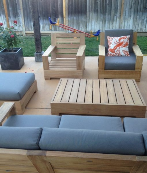 wholesaleteak 4pc teak patio sofa set