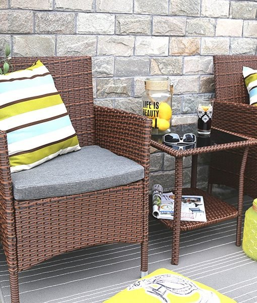 baner garden wicker conversation set