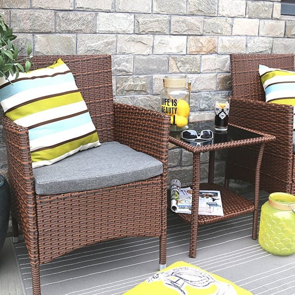 baner garden wicker conversation set