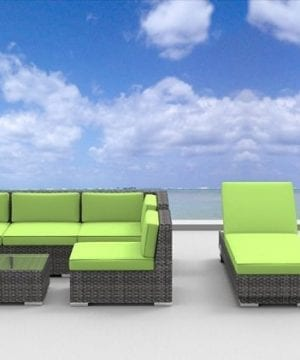 urban finishing 10pc wicker sofa and lounge set