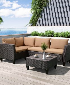 art to real outdoor wicker sectional couch