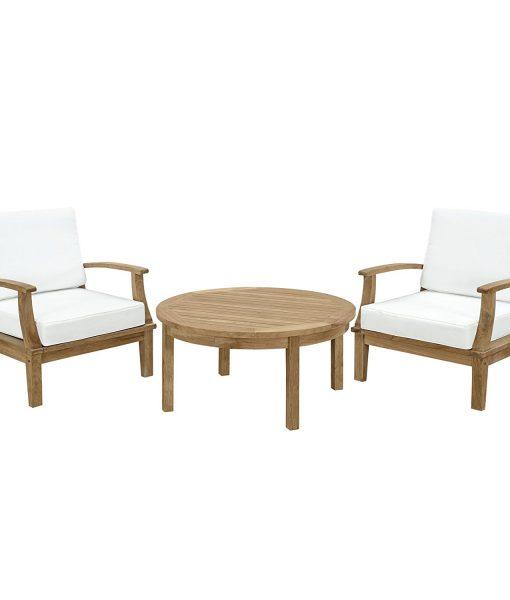 lexmod 3pc teak conversation set