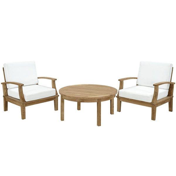 lexmod 3pc teak conversation set