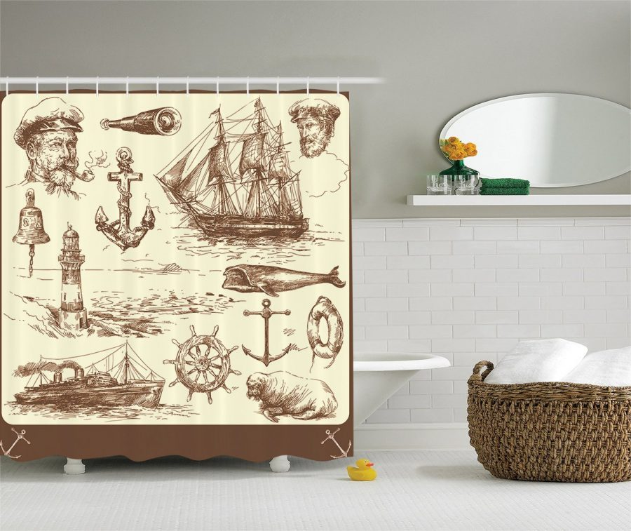 18-Perfect-Nautical-Shower-Curtain Nautical and Beach Themed Shower Curtains