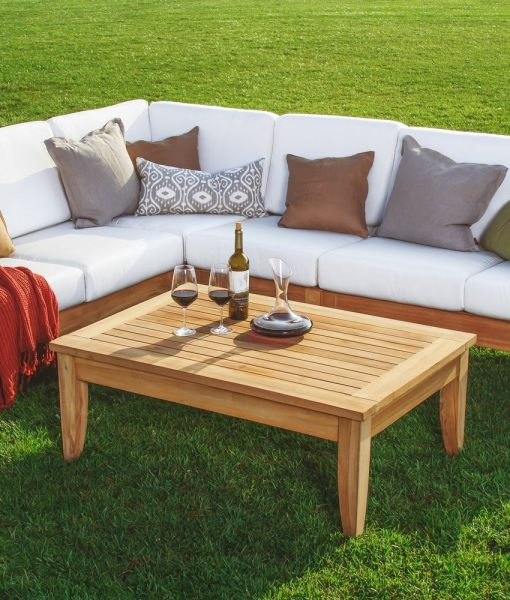 Atnas Grade A Teak Outdoor Sectional Sofa Set Beachfront