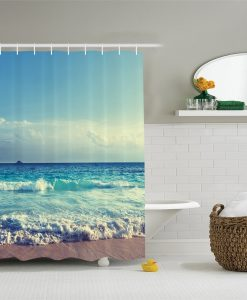 Ambesonne Bright Ocean Day Shower Curtain