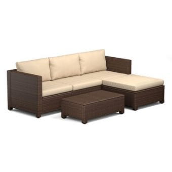 Lachesis 5-PC Outdoor Wicker Sectional Sofa