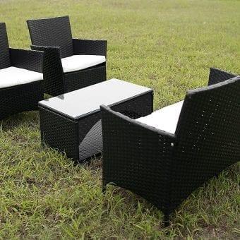 merax outdoor wicker patio seating set