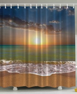 Ocean Beach Sunrise Shower Curtain