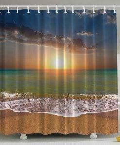 22-Ocean-Beach-Sunrise-Shower-Curtain-247x300 Nautical and Beach Themed Shower Curtains
