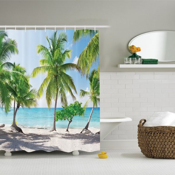 Tropical Palm Trees Shower Curtain